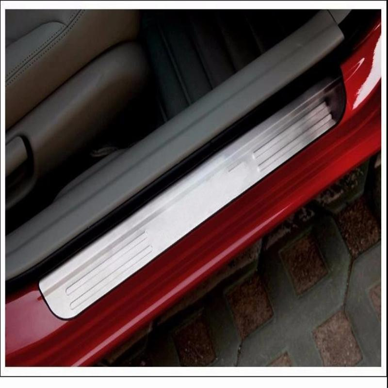 car sticker styling for 2016 2017 honda civic accessories stainless door sill scuff plate cover trim guard protector door sills(China (Mainland))