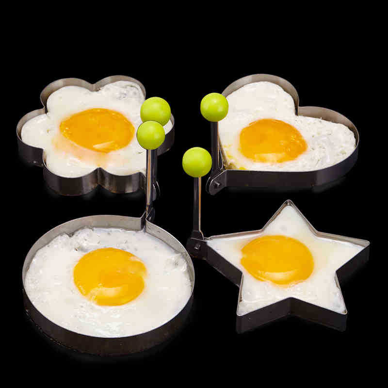 4Pcs Big Size Stainless Steel Fried Egg Pancake Mold Kitchen Cooking Tools Love Shaped Cook Fried Egg Mold(China (Mainland))