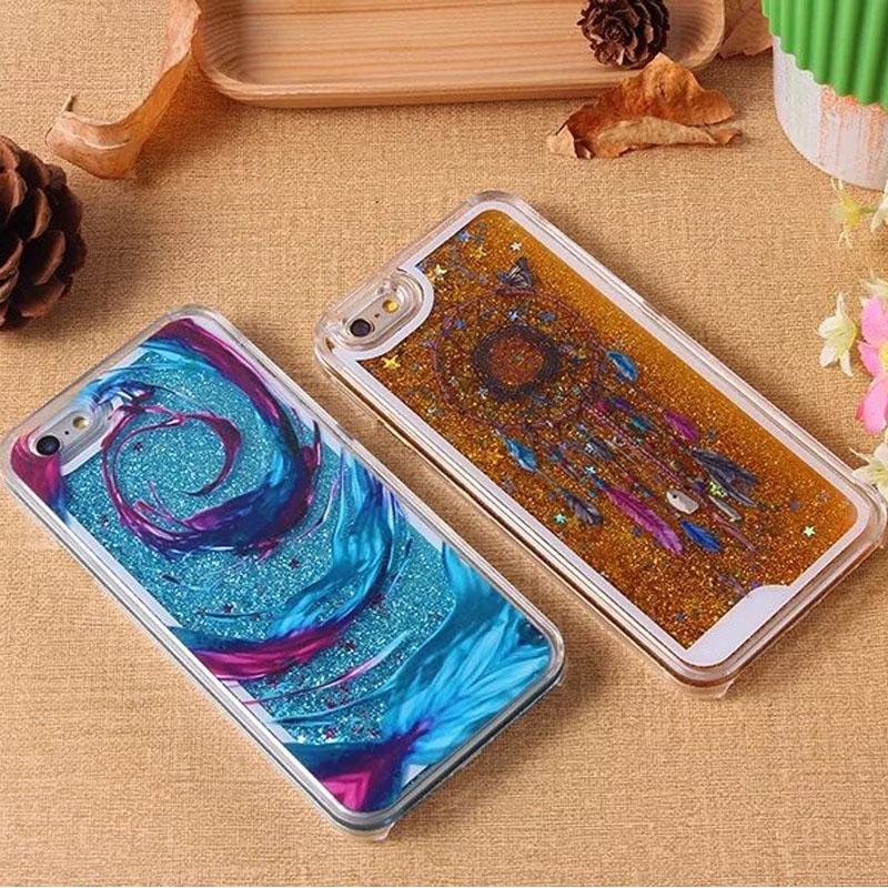Love New York Australia London Dynamic Liquid Glitter Star Sand Quicksand Clear Hard Case For iPhone 6 6S 6 Plus 6S Plus(China (Mainland))