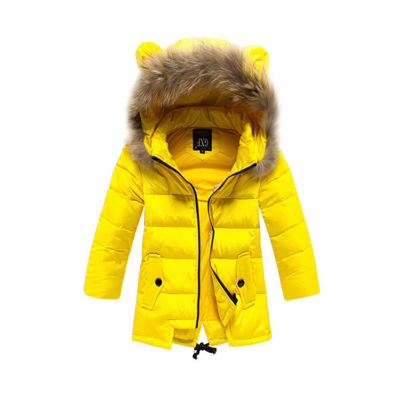 2015 New Girl Casual Winter Hooded Jacket Children Warm Thickening Coats Girls Long Sections Windproof Jackets CHE36 - Angel baby stars closet store