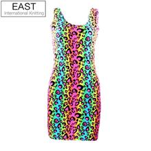 EAST KNITTING 2016 Women summer casual dress adventure time Tartan Red Neon simpsons print women dress bodycon punk dress