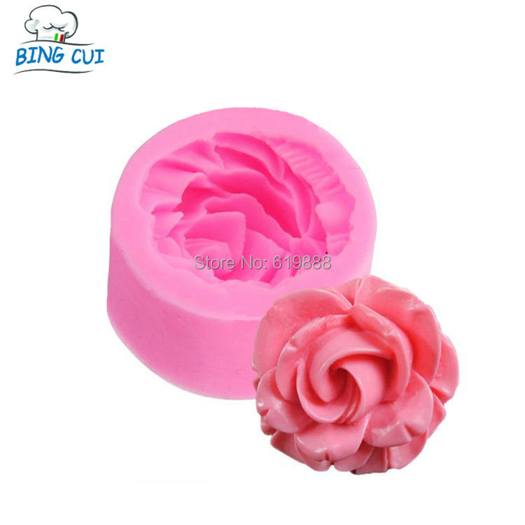 M-014 3D Rose Flower Resin Soap Molds For Soap Valentine's day Candle Jelly Cake Craft Cutter Handmade Soap Baking Tool(China (Mainland))