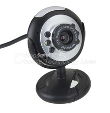 1x USB 6 LED 5.0 Mega Webcam Web Cam Camera PC Laptop Free shipping(China (Mainland))