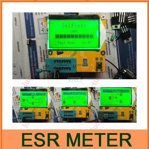 ESR-T3  Mega328 Digital Transistor Tester Diode Triode Capacitance ESR Meter MOS/PNP/NPN L/C/R TESTER METER