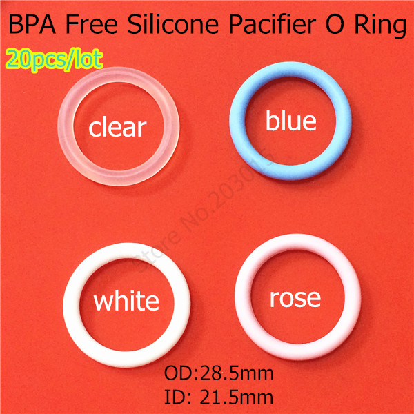 20pcs BPA Free Food Grade Silicone Baby Pacifier Holder MAM Rings NUK Napkin Adapter O Rings For Button Pacifier Clip(China (Mainland))