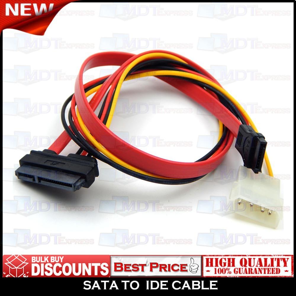 New! 15+7 Pin Data to 4 pin IDE Power SATA Power Cable(China (Mainland))