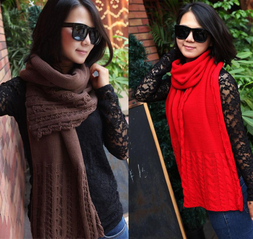 Winter thick shag line character Cable Knit Scarf warm scarf(China (Mainland))