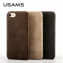 For Coque iphone 7 Case 4.7 inch USAMS Bob Series PU Leather Case for iphone 7 Plus 5.5 inch Phone Case Cover Bags & Cases(China (Mainland))