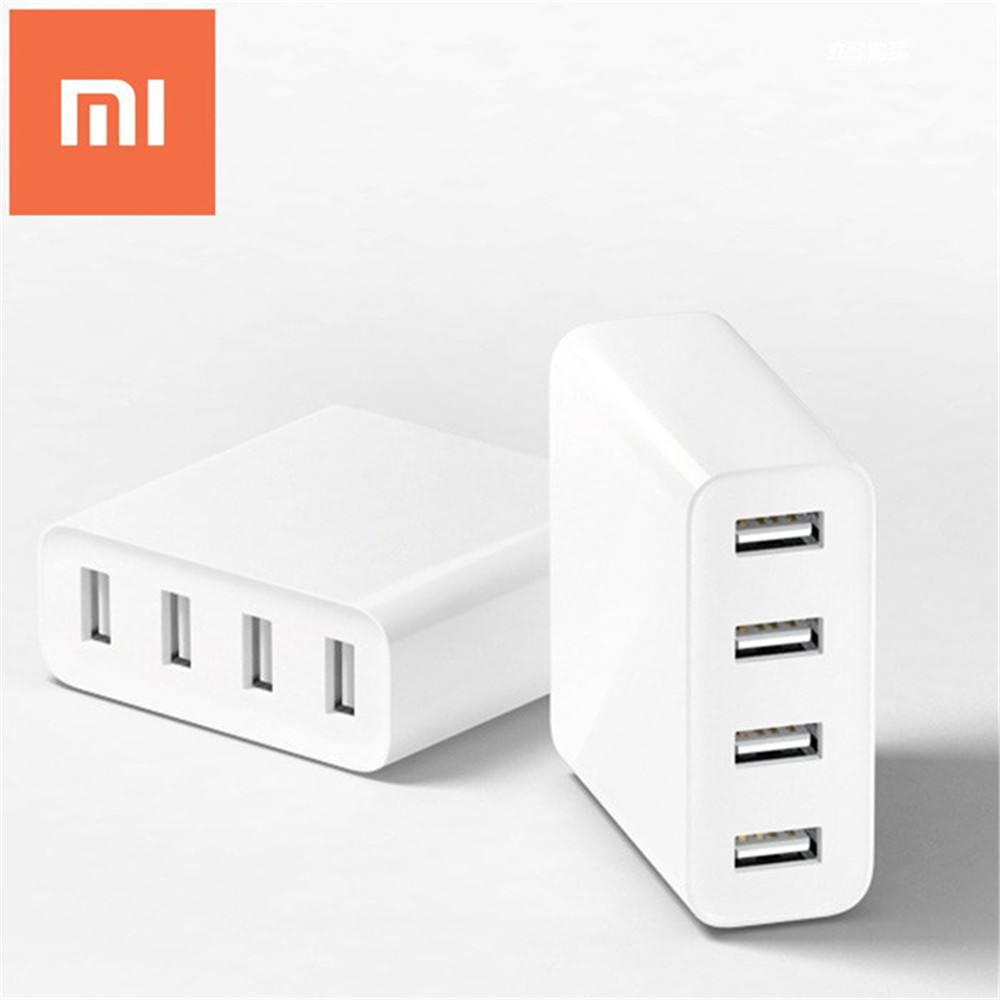 Original Xiaomi Mi 4 Ports USB Charger 2A Fast Charge with Overload Protection Home Travel Portable Power Charger(China (Mainland))