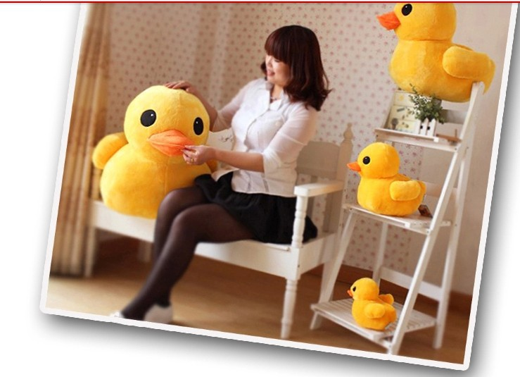 stuffed animal lovely yellow duck plush toy 70 cm duck doll 27 inch toy s4672(China (Mainland))
