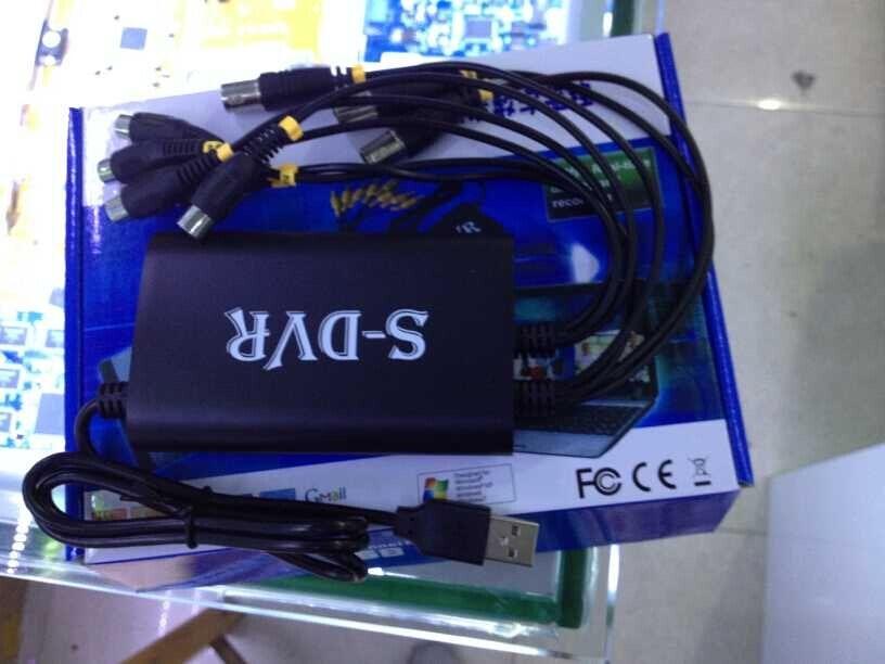 4 Channel Video Input USB Digital Video Capture Card 4CH Audio Support Win8 32bit&64bit 4CH D1 Realtime DVR Card Grabber(China (Mainland))