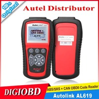 2015 New Original Autel Auto Link AL619 ABS/SRS + CAN OBDII DIAGNOSTIC SCAN TOOL troubleshooter code reader free online update
