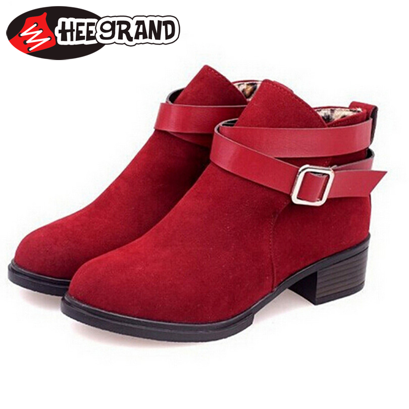 Гаджет  Hot Buckle solid ankle boots 2014 PU nubuck leather martin  Motorcycle Vintage British style women boots  free shipping XWX627 None Обувь