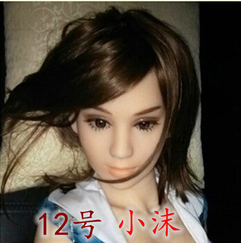 Cheap realistic 3d life size little girl suck sex toy doll real pussy full solid small silicon rubber love doll for men skeleton(China (Mainland))