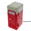 Red Portable Desktop Mini USB Charging Cooler Warmer Refrigerator Fridge For Beverage Cans