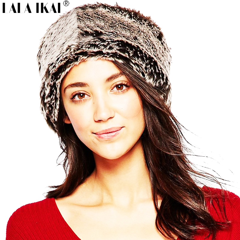 Gradient Fur Headband Woman Villus Artificial Raccoon Fur Headbands Women Thick Warm Cozy Winter Headband Female ZWW0059-5(China (Mainland))
