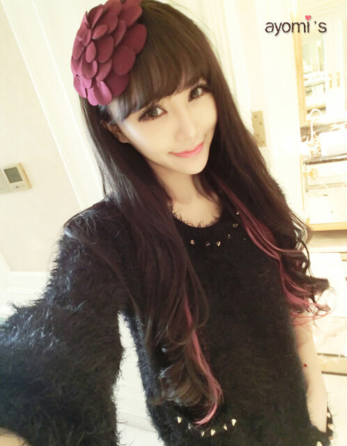 Winter Korean Style Woolen big flower hair hoop hairbands Women Hair Accessories(China (Mainland))
