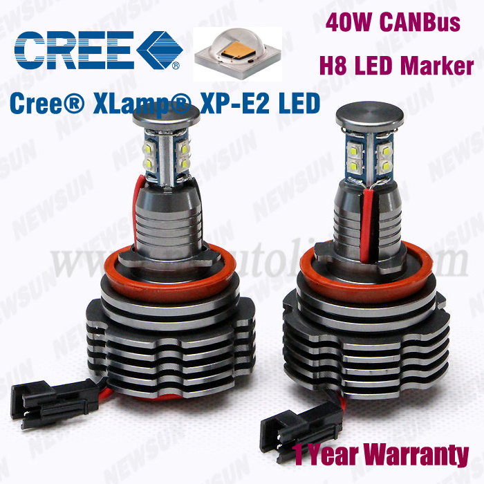 40w Cree XP E92 H8 Led Angel Eyes Led Marker 40w Cree H8 E92 Cree XP E2 LED Marker Angel Eyes for BMW E82 E87 E90 E91M3 E92 E60<br><br>Aliexpress