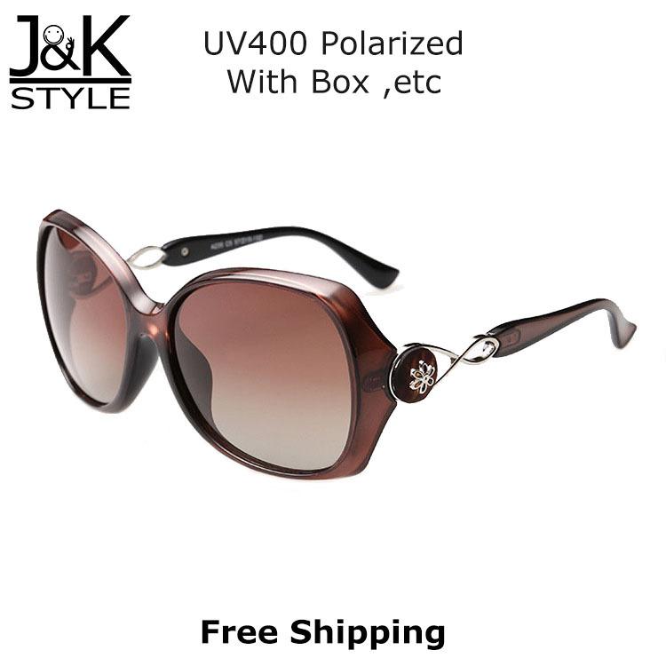 Vintage Elegant Flower Design Sunglasses Women Brand Designer Come Box Polarized Test Card oculos de sol feminino - J&K Style store