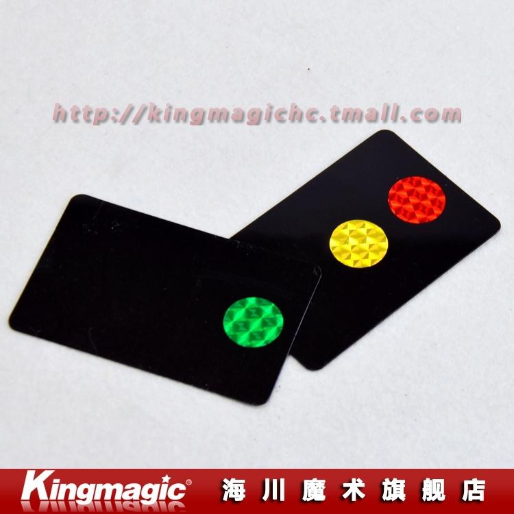 Free Shipping Magic Stop Light Cards Traffic light lineaments card magic props 20pcs/lot(China (Mainland))