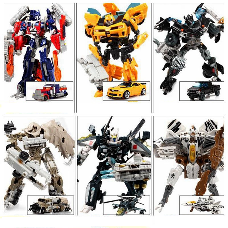 New Anime 16 style Transformation 4 Cars Robots Toy pvc Action Figures Brinquedos Classic model Toys boys for gifts juguetes(China (Mainland))