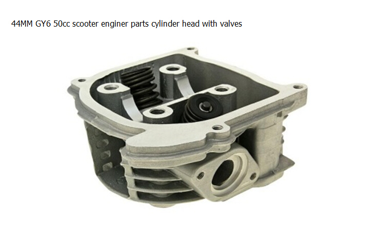 Scooter Cylinder Head With Valves font b GY6 b font 50cc Chinese Scooter Parts 139QMB 47mm