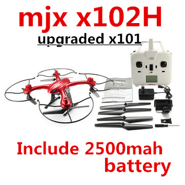 MJX X102H include 2500mah battery longer flying time quadcopter drone/drones rc helicopter 6-axis toys(China (Mainland))