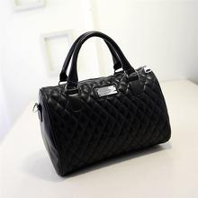 2015 new Fashion women messenger bags famous brands solid black handbag leather lady shoulder bags clutches diagonal mochila