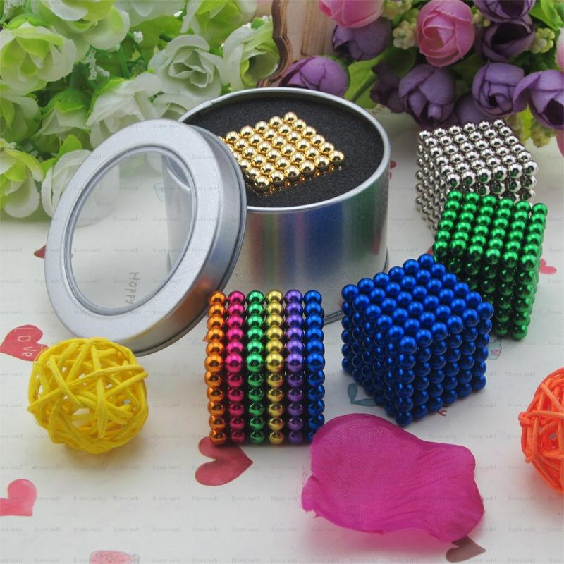 Free shipping 5mm 216 pcs Neo Cube Magic Cube Puzzle Metaballs Magnetic Balls with metal box Magnet Neo Cube Magic ToysGift Xmas(China (Mainland))