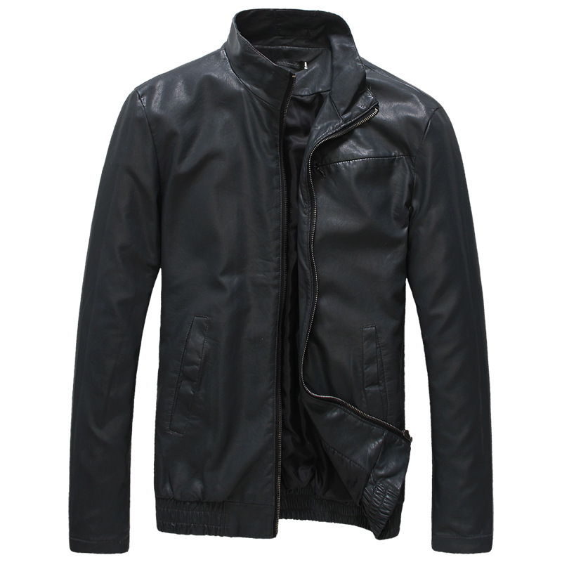2014 Men's PU Leather Jackets Autumn/Winter Stand Collar Fashion Motorcycle Slim Coats size L /XL/XXL/XXXL - A Roy's store
