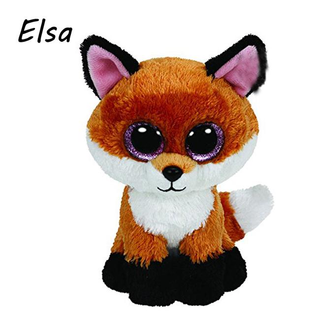 В исходном номера шапочка боос большие глаза плюшевые игрушки куклы фокс тай детские дети подарок 10 - 15 см чучела животных WJ159