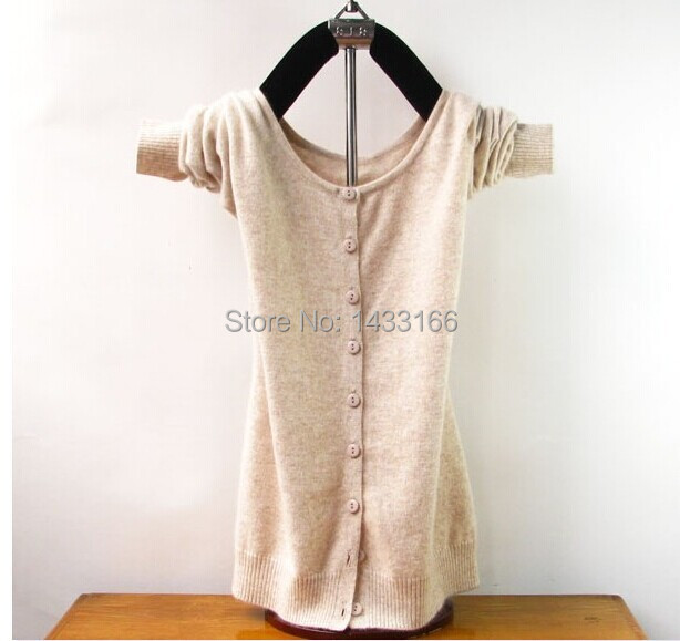 Hot Ladies Cashmere Шерсть Blend Вязаная V - образный вырез свитер кардиган Coat ...