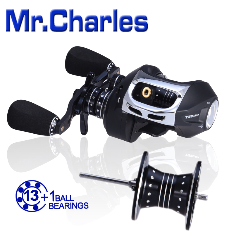 MrCharles 13BB+1RB NMB 6.5:1 Tornado Mode type1510 Bait Casting Fishing Reel Bearing(China (Mainland))