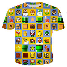 Camisetas de verano para bebés camisetas de dibujos animados Super mario camiseta niños Juego 3D impreso camisetas de manga corta divertido lindo bebé niño de Verano(China)