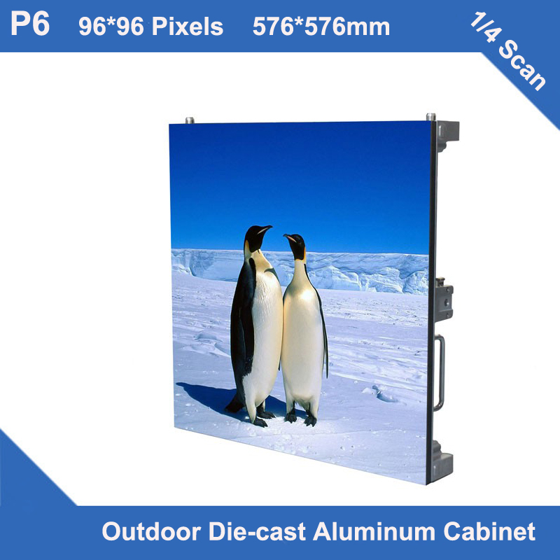 video P6 led display Outdoor Diecasting Cabinet 576mm*576mm ultra slim 1/4 scan led display module screen video wall led panel(China (Mainland))