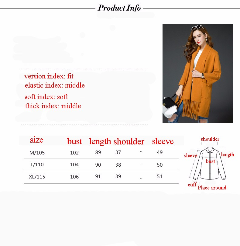 Warm Winter Sweater Women 2016 Knitted Full Sleeve Women Sweaters And Pullovers Christmas Solid With Tassel Cardigans Plus Size