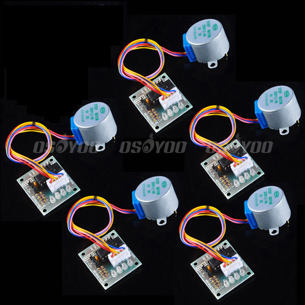 Gear Stepper Motor 28BYJ-48 DC 5V + ULN2003 Driver Test Module Board For Arduino 5pcs/lot Free Shipping(China (Mainland))