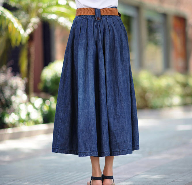 s 5xl new plus size big hem denim skirt plus size