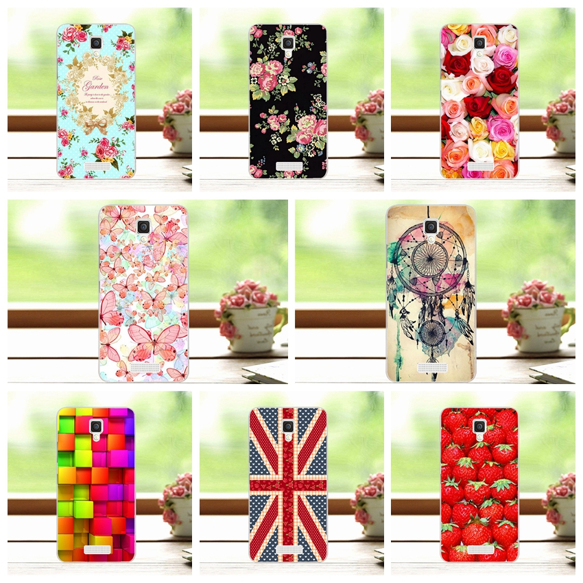 Floral Art Painted Flower Phone Case Lenovo A2010-a Lenovo A 2010 Case Cover Lenovo A2010+Free Stylus Pen(China (Mainland))