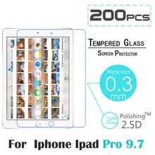 200pcs/lot 2016 Screen Protector for iPad Pro 9.7 inch 9H High Definition HD Tempered Glass Screen Protector for iPad Pro 9.7″