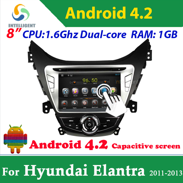 Pure Android 4.2 Car DVD GPS For Hyundai Elantra Avante with WIFI 3G GPS USB Bluetooth Capacitive screen car radio car stereo<br><br>Aliexpress