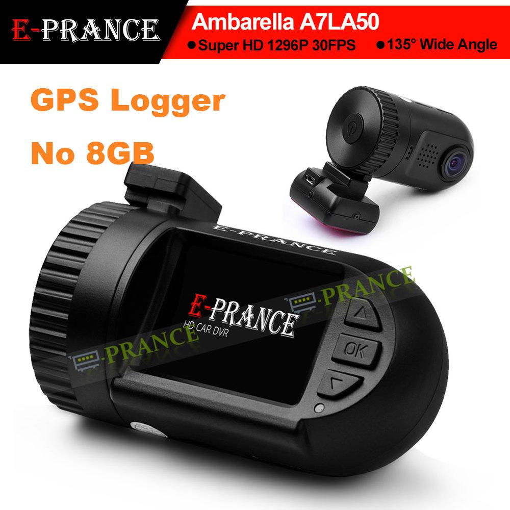 E-prance Mini 0805 Car Dashboard Camera Ambarella A7LA50 Super HD 1296P 30FPS GPS Logger WDR Hidden Dash Cam DVR(China (Mainland))