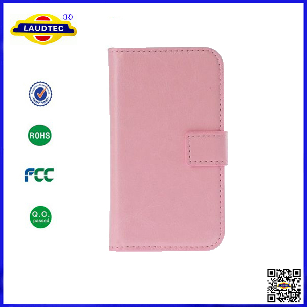 300 pcs/lot Hot Selling Wallet Leather Case Cover for Samsung Galaxy Core I8260-Laudtec(China (Mainland))