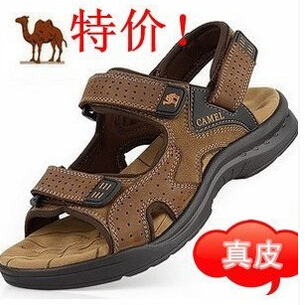 2015 Camel mens sandals slippers genuine leather cowhide outdoor casual men - iPhone69888888 store