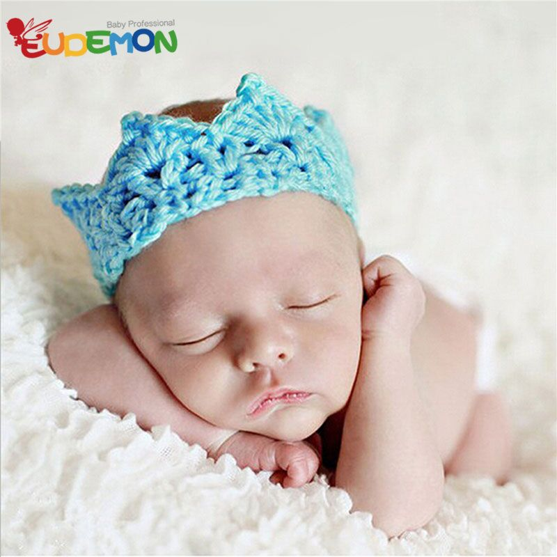 Fashion Cute newborn photography props hand made Crown baby hats fotografia new designer baby props high quality chapeau enfant(China (Mainland))