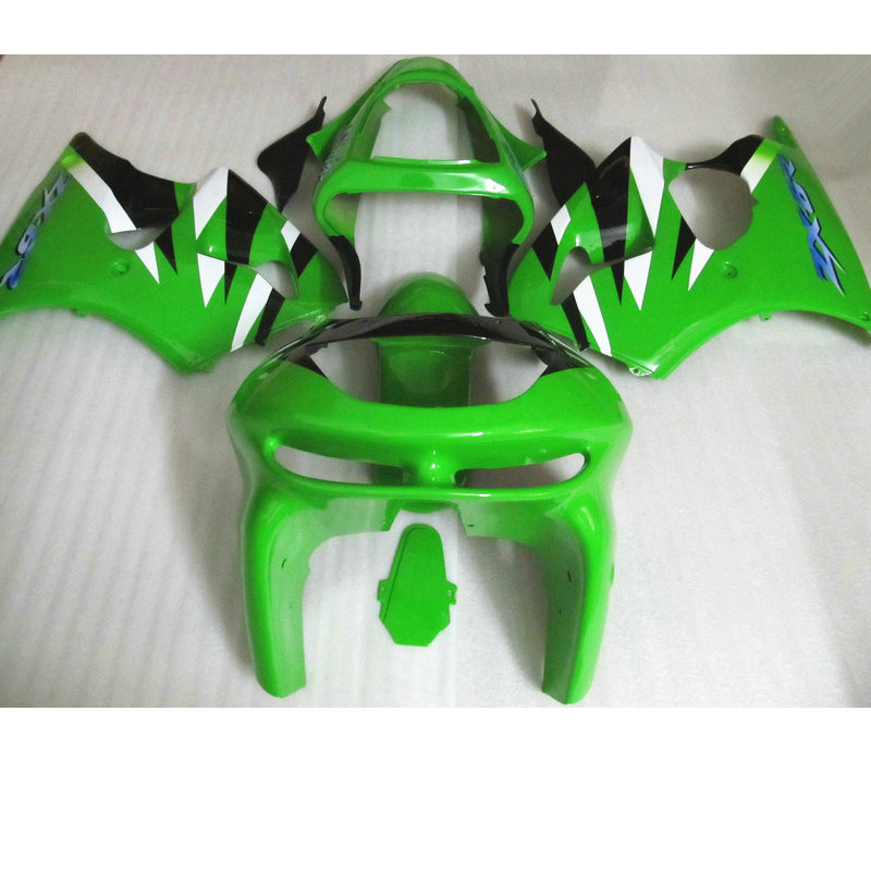 Custom ABS motorcycle fairing kits for Kawasaki ZX6R 1998 1999 light green aftermarket Fairings bodywork Ninja 636 ZX 6R 98 99(China (Mainland))