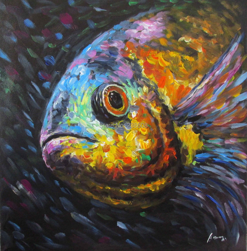 Abstract fish paintings for Abstract animal paintings