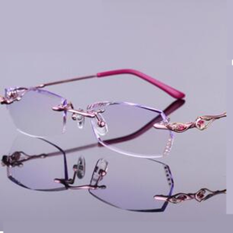 Optical glasses frames women Prescription Rimless ...