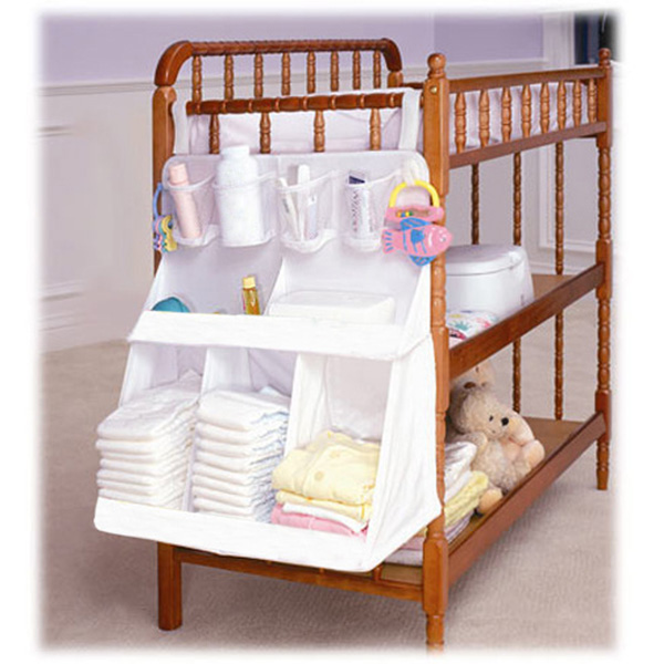 New Arrival Baby Bed Hanging Storage Bag Newborn Crib Organizer Infant Diaper Toy Holder Cot Bedding Set Accessories