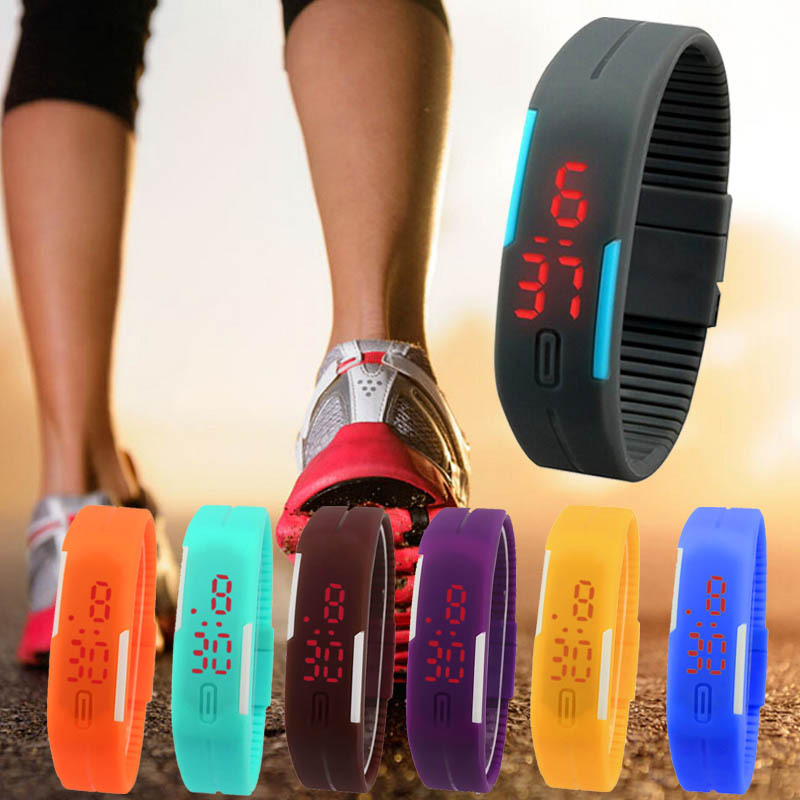 New Arrival! Fashion Sport LED Watches Unisex Silicone Rubber Touch Screen Digital Watches, Bracelet Wristwatch(China (Mainland))